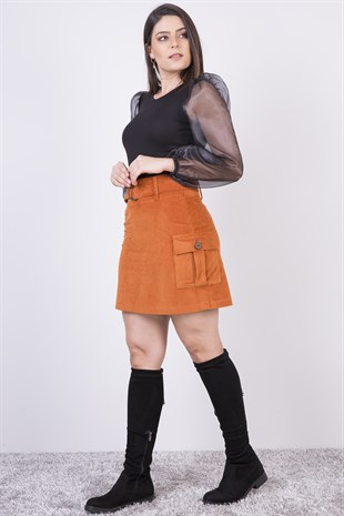 Apsen Velvet Short Skirt 2132/47