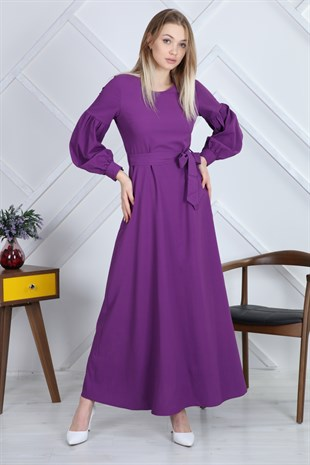 Apsen Modest Crew Neck Ruffle Dress 3695/145