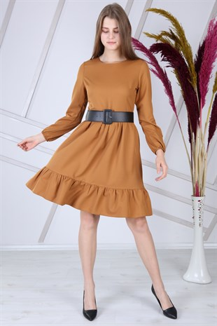 Apsen Frilly Belted Dress 4345/100