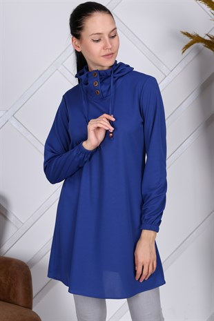 Apsen Hooded Button Detailed Tunic 4082/90