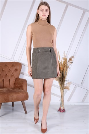 Apsen Winter Suede Mini Skirt  2152/45