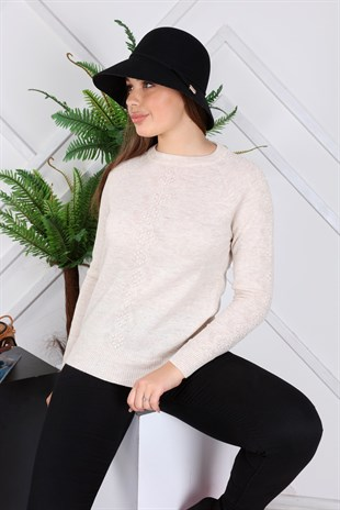 Apsen Womens New Season Detailed Winter Knitwear Sweater