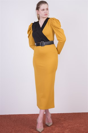 Belted Detailed New Season Dress 4284/135